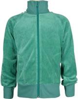 Maxomorra Sweat-Jacke mit Kragen Velour UNI teal M445-D3305 GOTS