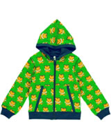 Maxomorra Sweat-Jacke m. Kapuze TIGER grün/orange SP17-M035-D093 GOTS