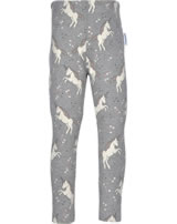 Maxomorra Sweat-Leggings EINHORN grau meliert L8AU-S396-D3170 GOTS