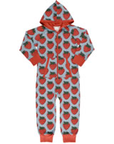 Maxomorra Onepiece with hood STRAWBERRY red GOTS M549-C3378