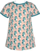 Maxomorra T-Shirt Kurzarm A-Linie SEEPFERDCHEN rosa/blau M352-D3235 GOTS