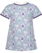 Maxomorra T-shirt A-line BUDGIE gris/rose M352-D3232 GOTS