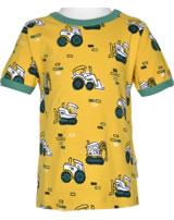 Maxomorra T-Shirt Kurzarm BAGGER gelb M468-D3284 GOTS