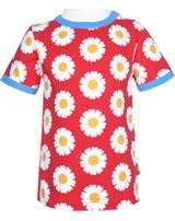 Maxomorra T-Shirt Kurzarm DAISY rot GOTS M468-C3345
