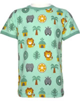 Maxomorra T-shirt manches courtes JUNGLE vert/jaune M336-D3231