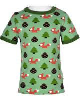 Maxomorra T-Shirt Kurzarm EICHHÖRNCHEN grün M468-D3267 GOTS