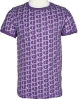 Maxomorra T-Shirt Kurzarm EICHHÖRNCHEN MONO lila M336-D3218 GOTS