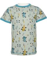 Maxomorra T-Shirt Kurzarm EIDECHSE beige/blau M336-D3242