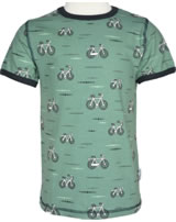 Maxomorra T-Shirt Kurzarm FAHRRAD petrol/dunkelgrau M336-D3222 GOTS