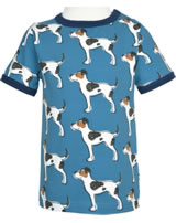 Maxomorra T-Shirt Kurzarm FARMDOG blau GOTS M468-C3377