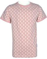 Maxomorra T-Shirt Kurzarm FISCHE rosa M336-D3241 GOTS