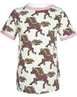 Maxomorra T-Shirt Kurzarm HORSE beige GOTS M468-C3379