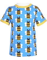 Maxomorra T-Shirt Kurzarm HUMBLE BUMBLEBEE blau GOTS M468-C3343