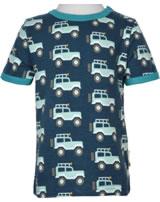 Maxomorra T-Shirt Kurzarm JEEP ABENTEUER blau M468-D3273 GOTS