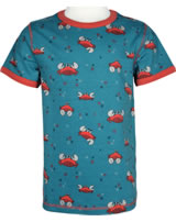 Maxomorra Top short sleeve CRAB blue/red M336-D3244 GOTS