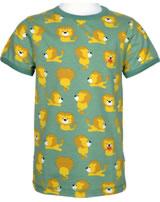 Maxomorra T-shirt manches courtes LION vert/jaune M336-D3230