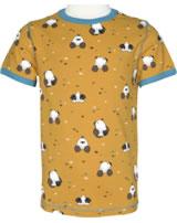 Maxomorra T-Shirt Kurzarm MAULWURF gelb/blau M336-D3224 GOTS