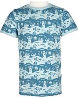 Maxomorra T-Shirt Kurzarm OCEAN LANDSCAPE blau M336-D3240 GOTS