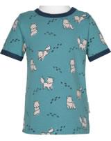 Maxomorra T-Shirt Kurzarm POLARFUCHS blau GOTS M468-D3287