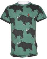 Maxomorra T-Shirt Kurzarm RHINO grün/grau M336-D3246