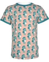 Maxomorra T-Shirt Kurzarm SEEPFERDCHEN rosa/blau M336-D3235 GOTS