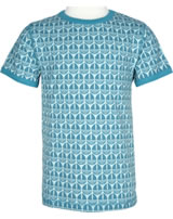 Maxomorra T-shirt short sleeve SAIL BOAT blue M336-D3239 GOTS