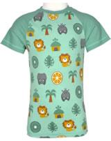 Maxomorra T-Shirt Kurzarm Slim DSCHUNGEL grün/gelb M338-D3231 GOTS