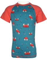 Maxomorra T-Shirt Kurzarm Slim KREBS blau/rot M338-D3244 GOTS