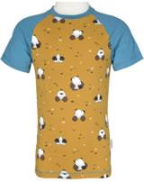 Maxomorra T-Shirt Kurzarm Slim MAULWURF gelb/blau M338-D3224 GOTS