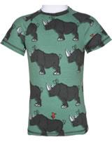 Maxomorra T-shirt manches courtes Slim RHINO bleu/gris M338-D3246 GOTS