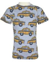 Maxomorra T-Shirt Kurzarm Slim TAXI grau M338-D3226 GOTS