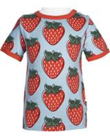 Maxomorra T-Shirt Kurzarm STRAWBERRY rot GOTS M468-C3378