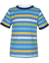 Maxomorra T-Shirt Kurzarm Streifen Ocean GOTS M522-C3350