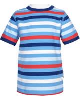 Maxomorra T-Shirt Kurzarm STRIPE SKY bunt GOTS M522-C3352