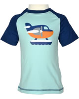 Maxomorra T-Shirt Kurzarm WASSERFLUGZEUG blau/orange P8SP-S337-D3089