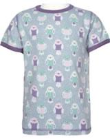 Maxomorra T-shirt manches courtes BUDGIE gris/rose M336-D3232