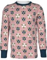 Maxomorra T-Shirt Langarm BLAUBEERBLÜTE rosa M467-D3276 GOTS