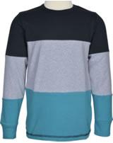 Maxomorra T-Shirt Langarm Block BLACK schwarz M406-D3259 GOTS