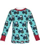 Maxomorra T-Shirt Langarm CLASSIC TRACTOR blau C3386-M467 GOTS