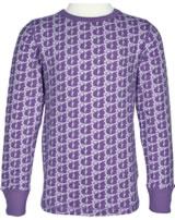 Maxomorra T-Shirt Langarm EICHHÖRNCHEN MONO dusty purple M335-D3218 GOTS