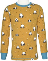 Maxomorra T-Shirt Langarm MAULWURF gelb/blau M335-D3224 GOTS