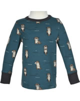 Maxomorra T-Shirt Langarm OTTER blau M467-D3281 GOTS