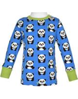 Maxomorra T-Shirt Langarm PANDA blau/grün GOTS M467-C3335