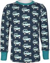 Maxomorra T-Shirt Langarm JEEP ABENTEUER blau M467-D3273 GOTS