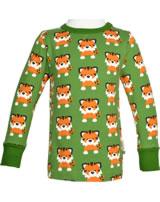 Maxomorra T-Shirt Langarm TANGERINE TIGER grün GOTS M467-C3338