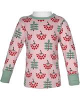 Maxomorra T-Shirt Langarm VOGELBEERE rosa M467-D3268 GOTS
