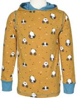 Maxomorra T-Shirt m. Kapuze Langarm MAULWURF gelb/blau M421-D3224 GOTS