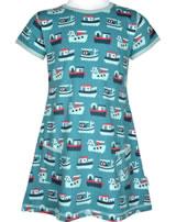 Maxomorra T-Shirt/Tunika Kurzarm SCHLEPPER blau/rot M354-D3233 GOTS