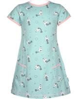 Maxomorra T-Shirt/Tunika Kurzarm SEEHUND blau/rosa M354-D3245 GOTS