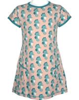 Maxomorra T-Shirt/Tunika Kurzarm SEEPFERDCHEN blau/rosa M354-D3235 GOTS